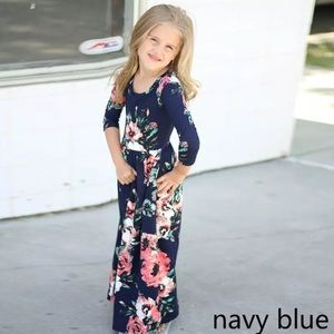Other - Blue Floral Maxi Dress